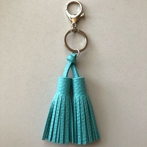 Accessories - Turquoise fringe key ring
